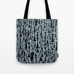 Chess Pattern II BLACK Tote Bag