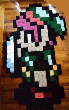 Legend of Zelda Blanket and Yoshi Egg Blanket - CROCHET - Sewing, knitting, crochet, needlework, paper crafts, jewelry, tutorials, swaps and SO much more on Craftster.org