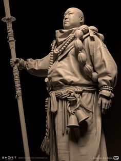 Character Concept, Character Design, Zbrush Models, Ghost Of Tsushima, Samurai Art, Japan Fashion, Geisha, Martial Arts, Statue