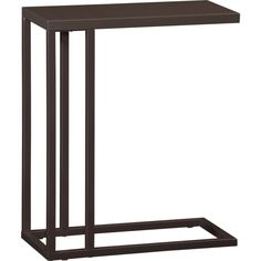 $199.00  Skye Cocoa C Table in Accent Tables | Crate and Barrel