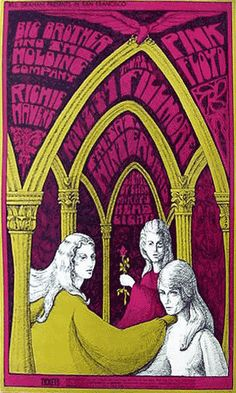 FILLMORE POSTER 1967...This is a very unusual one from Bonnie MacLean...it doesn't even look like her work, but it makes for a haunting poster.     16