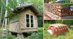 Wooden cabins are really great, especially for spending your holiday. If you would like to build yourself such a cabin in order to have your own island of Small Log Cabin, Log Cabin Homes, Log Cabins, Casas Cordwood, Cordwood Homes, Natural Homes, Solar House, Wooden Cabins, Cabins And Cottages