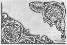 Leathercraft Library - Laier Floral Corners
