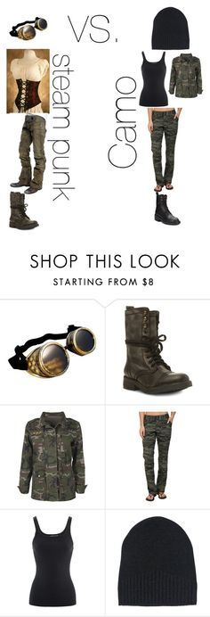 """Camo? or Steam punk? i cant decide. This is for a wedding im going to and i need help deciding! Leave comments. wedding is the 13 of this month."" by lord-snowdamort ❤ liked on Polyvore featuring Steve Madden, Boohoo, Columbia, Ralph Lauren, Ann Demeulemeester and Ash"
