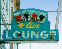 Fine Art Photo of the Vintage Sign 4 Ace Lounge taken along Roadside America. Old Neon Signs, Vintage Neon Signs, Old Signs, Advertising Signs, Vintage Advertisements, Retro Signage, Love Neon Sign, Neon Moon, Neon Nights
