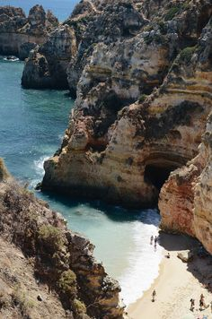 beaches in portugal | the algarve region, lagos beach