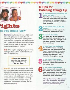American Girl Magazine - January 1993/February 1993 Issue - Page 10 (Talk It Out - Part 2)
