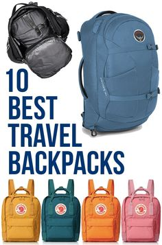 Travel Outfit Summer Backpacking - 10 Best Travel Backpacks: Best Carry On Travel Backpacks & Daypacks for Travel Best Carry On Backpack, Tumi Backpack, Chic Backpack, Luggage Backpack, Diaper Backpack, Japan Travel, Italy Travel, Travel Europe, Japan Trip