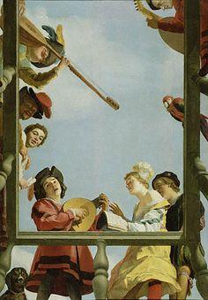 Gerard van Honthorst, Grupo musical en el balcón,  1622
