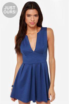 LULUS Exclusive Good Mood Royal Blue Skater Dress at LuLus.com!