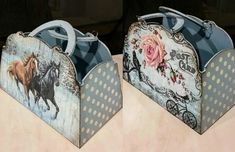 Decoupage, Wood Boxes, Louis Vuitton Speedy Bag, Painting On Wood, Wood Art, Mixed Media, Handbags, Purses, Crafts