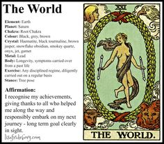 Holistic Tarot Correspondences for The World