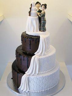 half and half  Wedding Cakes | half & half | Flickr - Photo Sharing!