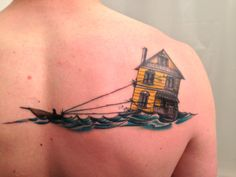 Resettlement -- Done by Julian of Five Cents Tattoo (Ottawa, ON) B'ys, there's some crackin' Newfoundland history for you. Family Tattoos, Love Tattoos, Tattoo You, New Tattoos, Heron Tattoo, Cute Tats, Newfoundland, Deathly Hallows Tattoo, Getting Old