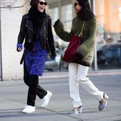 #Le21eme x #AdamKatzSinding •  www.Le21eme.com •  @StopItRightNow @Margaret__Zhang #JayneMin #MargaretZhang #NewYork #FW15 #FashionWeek #MBFW #NYFW #NYC #NewYorkCity #Street #Style #StreetStyle #Fashion #Mode #Moda #NoFilter #American #Australian #Blogger