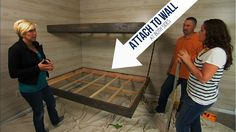 Floating Bunk Beds Tutorial {Knock It Off DIY Project} | East Coast Creative Blog - using RSS screws