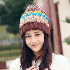 19befa8ddcd Fasbys New Fashion Women Casual Lady Winter Hat Warm Han Edition Heavy Hair  Ball 5 Color Matching with Polyester Hat Street