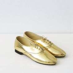 In case i need another pair of gold shoes.  Pony oxford leather shoes by goldenponies on Etsy