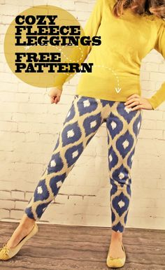 Sewing Patterns Free View details for the project Ikat Get Enough Cozy Fleece Leggings on BurdaStyle. - View details for the project Ikat Get Enough Cozy Fleece Leggings on BurdaStyle. Sewing Patterns Free, Free Sewing, Clothing Patterns, Free Pattern, Hand Sewing, Fleece Leggings, Leggings Sale, Sewing Pants, Sewing Clothes