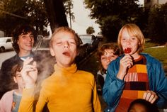 Boy in Yellow Shirt Smoking, Mark Cohen (1977).