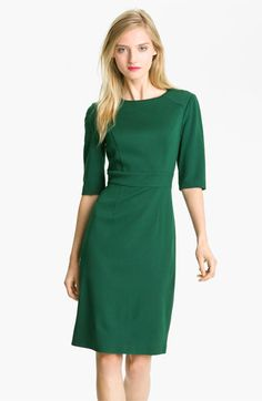 Style green dress office