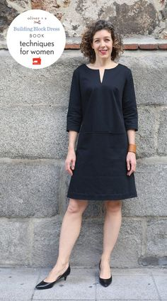 bistro dress to easy shift: a building block dress tutorial : Bistro Dress Altered using Building Block Dress techniques Tunic Sewing Patterns, Clothing Patterns, Women's Dress Patterns, Sewing Clothes Women, Clothes For Women, Simple Dress Pattern, Block Dress, Dress Tutorials, Simple Dresses