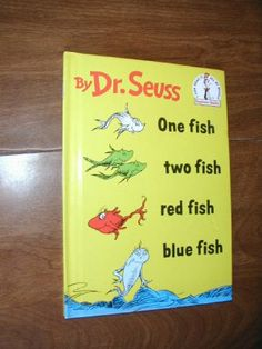 $5.99 One Fish Two Fish Red Fish Blue Fish by Dr. Seuss (1960)