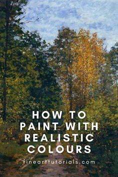 An in-depth colour mixing tutorial for painters who want to achieve realism. With tips on how to make colours appear more muted and natural in tone. Learn which colours you need on your palette, how to create the appearance of distance and depth in a painting and how to match colour to your photo reference. #colormixing #colortheory #arttutorial #oilpainting #acrylicpainting #watercolorpainting #artist #paintingtutorial #learntopaint #paintinghowto #learnart #arttips #arttutorials