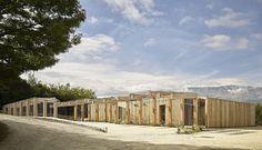 BFA | Multi-aged community centre #architecture #mountains #contemporary #modern #Burri #art #colors #color #roof #garden #facade #garden #earthquake #minimal #Poggio #Picenze #Abruzzo #Italy #studio #progettazione #architettura #interni #esterni #Trento #Bolzano