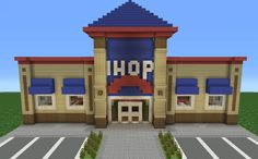 I have never heard of IHOP but it's a good structure Minecraft Videos, Minecraft Mods, Minecraft Stores, Modern Minecraft Houses, Minecraft City Buildings, Minecraft Structures, Minecraft Plans, Minecraft House Designs, Minecraft Tutorial
