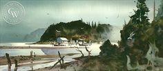 Fish Camp, art by Robert Landry – California Watercolor