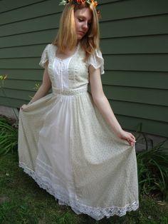 Gunne Sax Dress Vintage Hippie by QualityRetroWare on Etsy