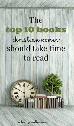 It's SO hard to decide what to read- there are so many books out there! Hopefully, this list will give you a good idea of great books for Christian women. Bonus! Books make a great gift idea!
