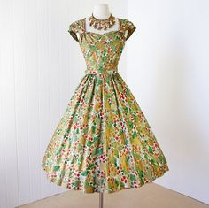 Hey, I found this really awesome Etsy listing at https://www.etsy.com/listing/179218328/vintage-1950s-dress-gorgeous-nan-miller