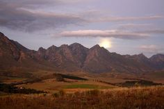 Moon rising over Greyton - Western Cape - South Africa km from Cape Town) Tomorrow Is Another Day, Moon Rise, High Hopes, Move Mountains, Water Systems, Nature Reserve, Africa Travel, Sunrises, Cape Town