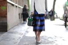 How To Dress Like A French Girl #refinery29  http://www.refinery29.com/63682#slide-51  Sheers don't always have to come in one color! Look for them in prints, too. ...