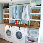 Cool Laundry Room Shelving Ideas Creative White Wooden Laundry Room Shelving As Clothes And Baskets Storage Design