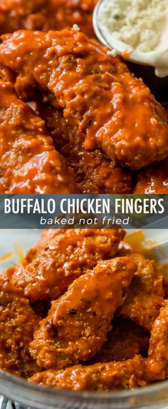 EXTRA crispy and baked buffalo chicken fingers! Coated in cornflakes for extra c… EXTRA crispy and baked buffalo chicken fingers! Coated in cornflakes for extra crunch. Buffalo Chicken Fingers, Buffalo Chicken Strips, Healthy Chicken Fingers, Baked Chicken Strips, Chicken Finger Recipes, Buffalo Chicken Recipes, Buffalo Chicken Bake, Healthy Buffalo Chicken, Pollo Buffalo