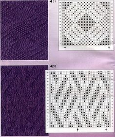 Tina's handicraft : 177 pattern for knittings stitch Knitting Paterns, Knitting Charts, Lace Knitting, Knit Patterns, Knitting Projects, Stitch Patterns, Knit Purl Stitches, How To Purl Knit, Cross Stitch Embroidery