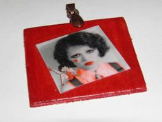 Clara Bow  Betty Boop  Altered Art print pendant by aBeesCreations
