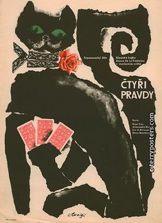 Vintage Czech film poster by Karel Teissel (1965)