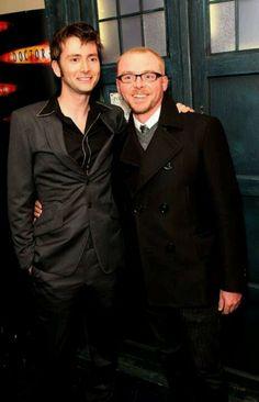 David Tennant and Simon Pegg