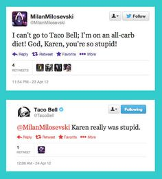 That time Taco Bell insulted Karen Smith. | 14 Times Brands Showed Their Sassy Side On Twitter