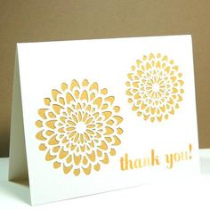 Medallion Thank You Cards | Etsy