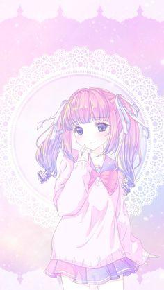 66 Ideas for wallpaper cute pastel anime girls Anime Girl Pink, Anime Girl Cute, Kawaii Anime Girl, Anime Art Girl, Anime Girls, Kawaii Chibi, Cute Chibi, Kawaii Art, Kawaii Drawings