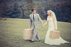 #vintage #wedding #suitcase #mountain #georgia Vintage Couples, Suitcases, Georgia, Place Cards, Mountain, Place Card Holders, Wedding Photography, Wedding Ideas, Couple Photos