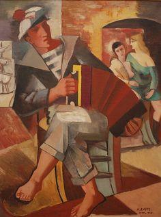 """André Lhote, """"Marin à l'accordéon"""", 1923"""