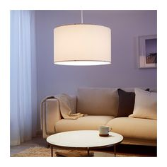 NYMÖ Lamp shade  - IKEA // use this shade to do side-by-side pendant lights above dining buffet; cut in half and add a diffuser disk at the bottom (see next image); install into a dropped panel or two