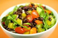 Loaded Black Bean Salad | All recipes with Trader Joes products for easy, quick, healthy meal ideas