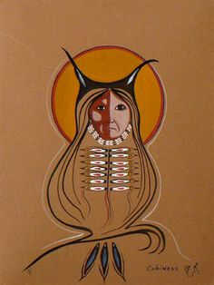 Eddy Cobiness was a Canadian artist born in Warroad, Minnesota. He was an Ojibwa-Indian and his art work is characterized by scenes from the life outdoors and nature Native American Artwork, Native American Artists, American Indian Art, Canadian Artists, Modern Indian Art, Native Canadian, Inuit Art, Indigenous Art, Owl Art